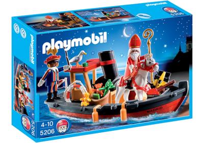 Playmobil 5206 Stoomboot van Sinterklaas en Zwarte Piet