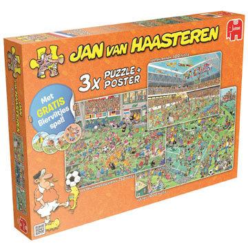 Jumbo Puzzel JvH: Voetbal Oranje 3 in 1 500/750/1000 stukjes