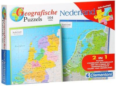 Clementoni Geografische Puzzel Nederland 104 stukjes