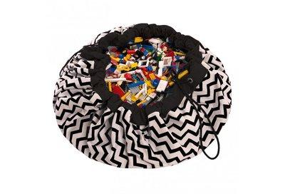 Play & Go Speelgoedkleed en opbergzak - zigzag zwart